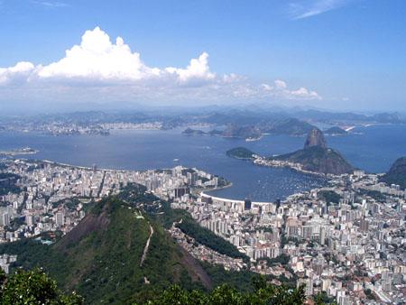 Rio De Janeiro, vista, baia guanabara