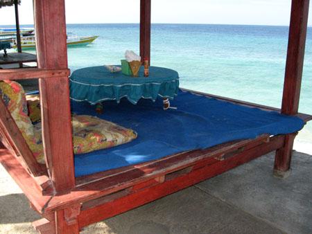 Isole Gili: Ristorante sulla spiaggia Gili Meno