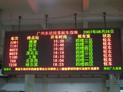 tabellone treni Cina
